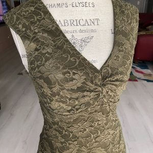Rampage Luxe Lace Top